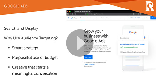 Free Video Training on Developing Targeted Audience Profiles for google and Facebook Ad Campaigns by Red Chalk Studios
