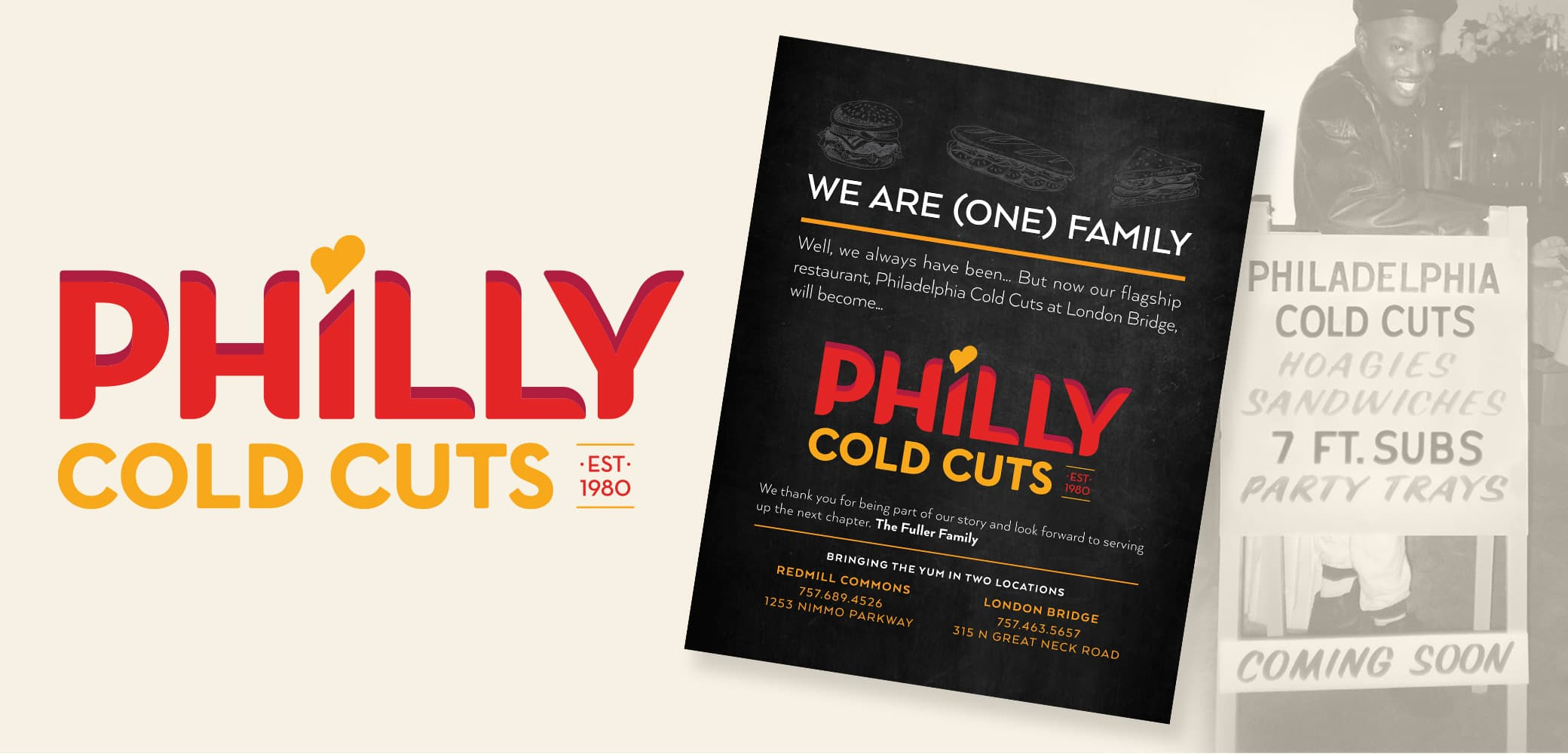 Philly Cold Cuts restaurant brand development by Red Chalk Studios in Virginia Beach, VA