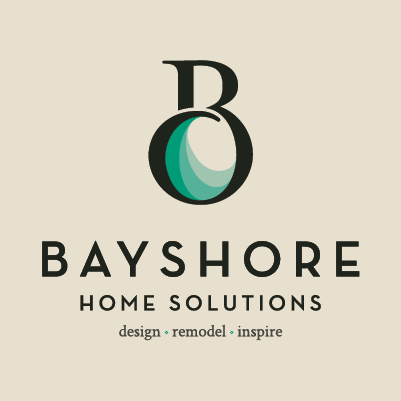 Bayshore Home Solutions name, tagline and logo design by Red Chalk Studios