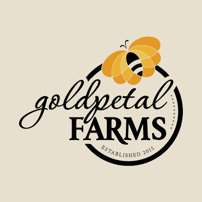 Goldpetal Farms name and logo design by Red Chalk Studios