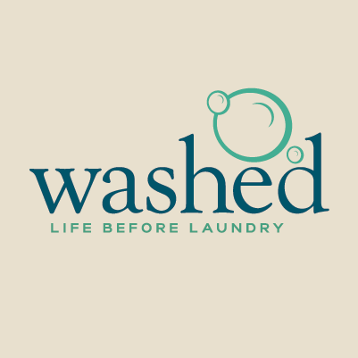Washed logo and tagline design by Red Chalk Studios