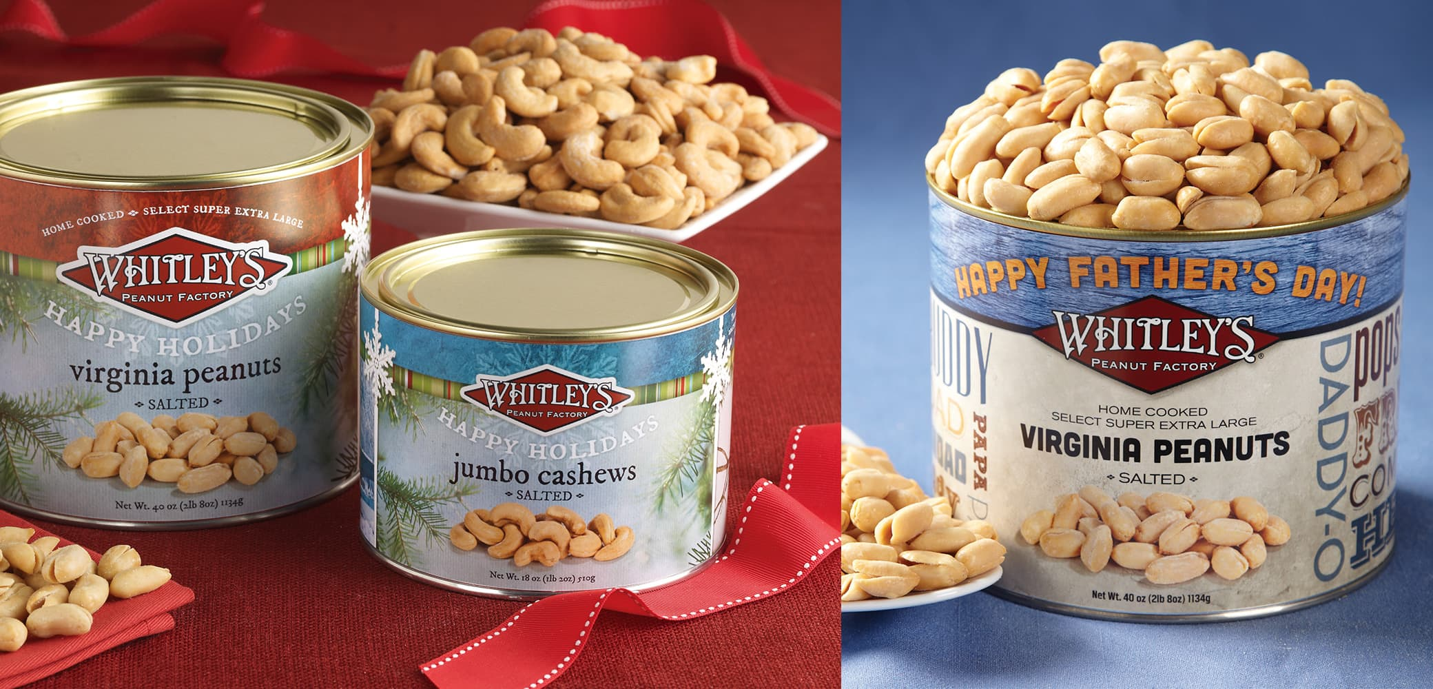 Whitley's Peanut Factory label design by Red Chalk Studios