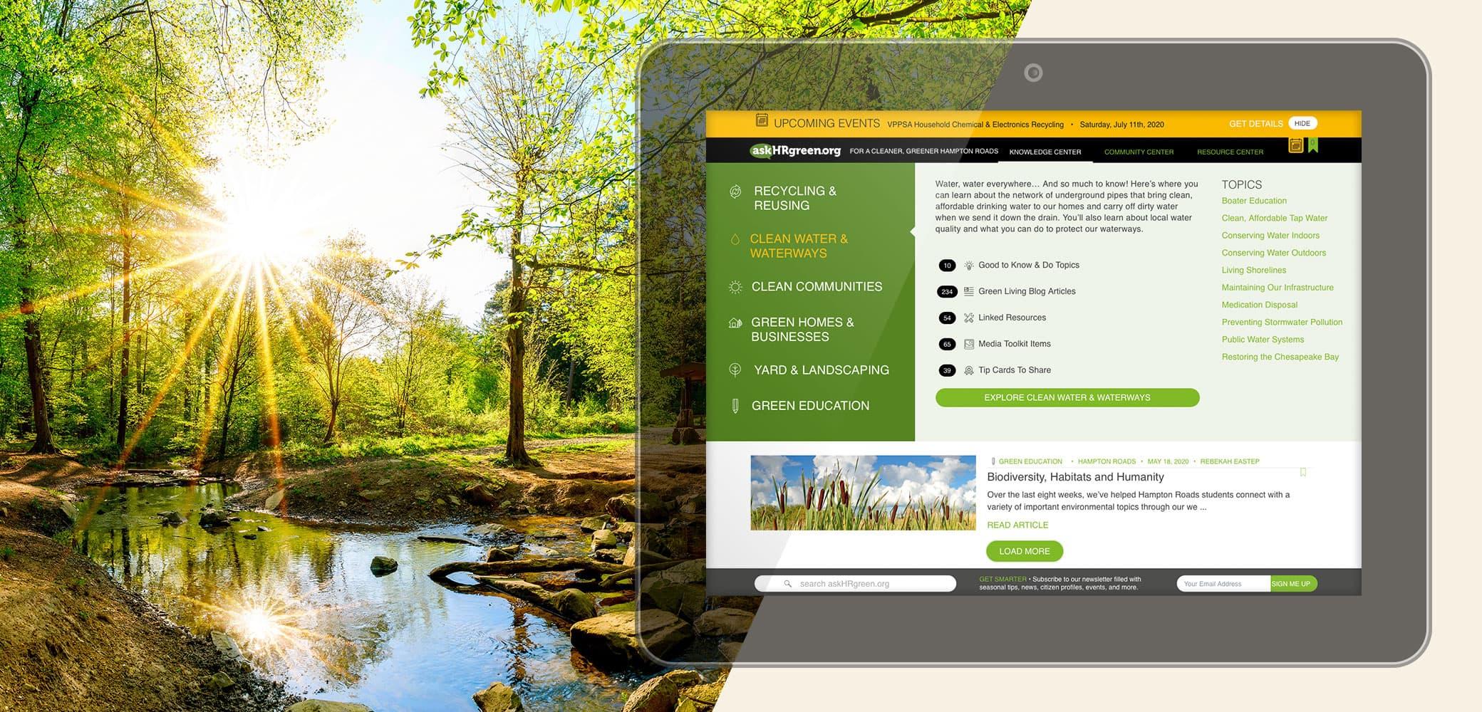 askHRgreen.org Website Strategy, Design & Development by Red Chalk Studios