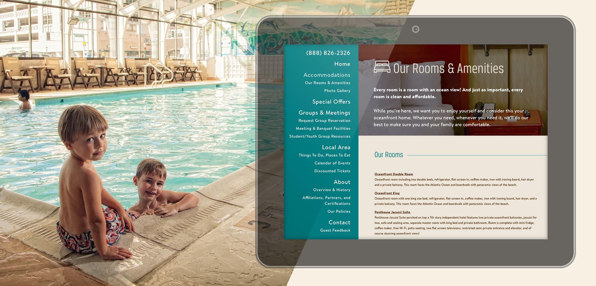 Oceanfront Inn Website Strategy, Design & Development by Red Chalk Studios
