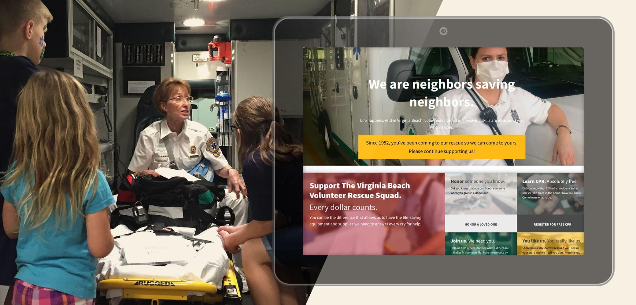 Virginia Beach Volunteer Rescue Squad Website Strategy, Design & Development by Red Chalk Studios