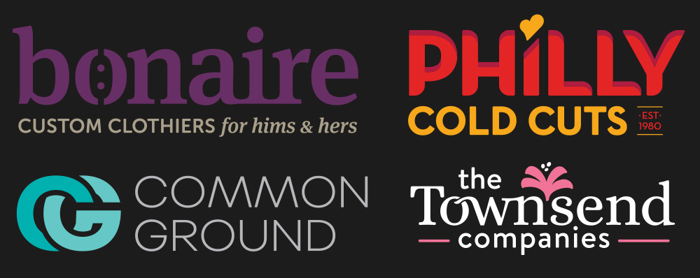 Logo examples by brand development experts Red Chalk Studios